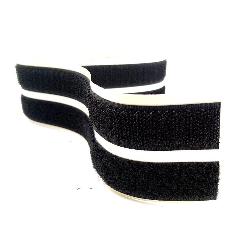 """Self adhesive back hook and loop set black 3/4"""" stick on hook loop fastener strap"""