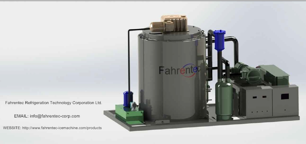 Fahrentec Industrial Flake Ice Maker Machine For Fishery Cooling Use