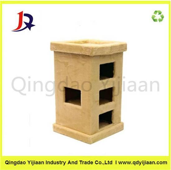 Pet cardboard cat house factory price