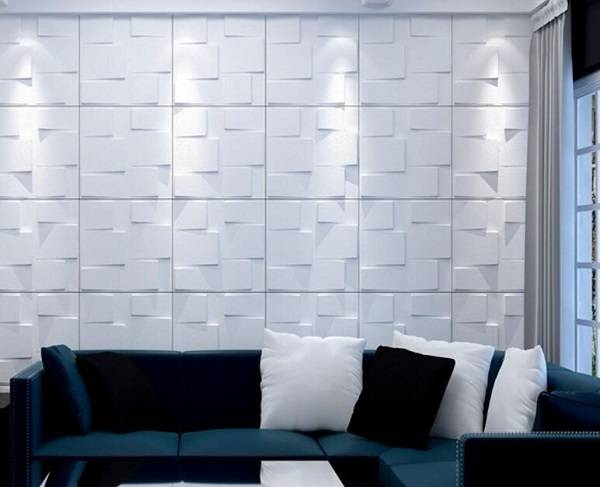 PVC Wall Panel Archiboard Home Decor Eco-Friendly Plastic Price PVC 3D Wall Panel with Relief Design