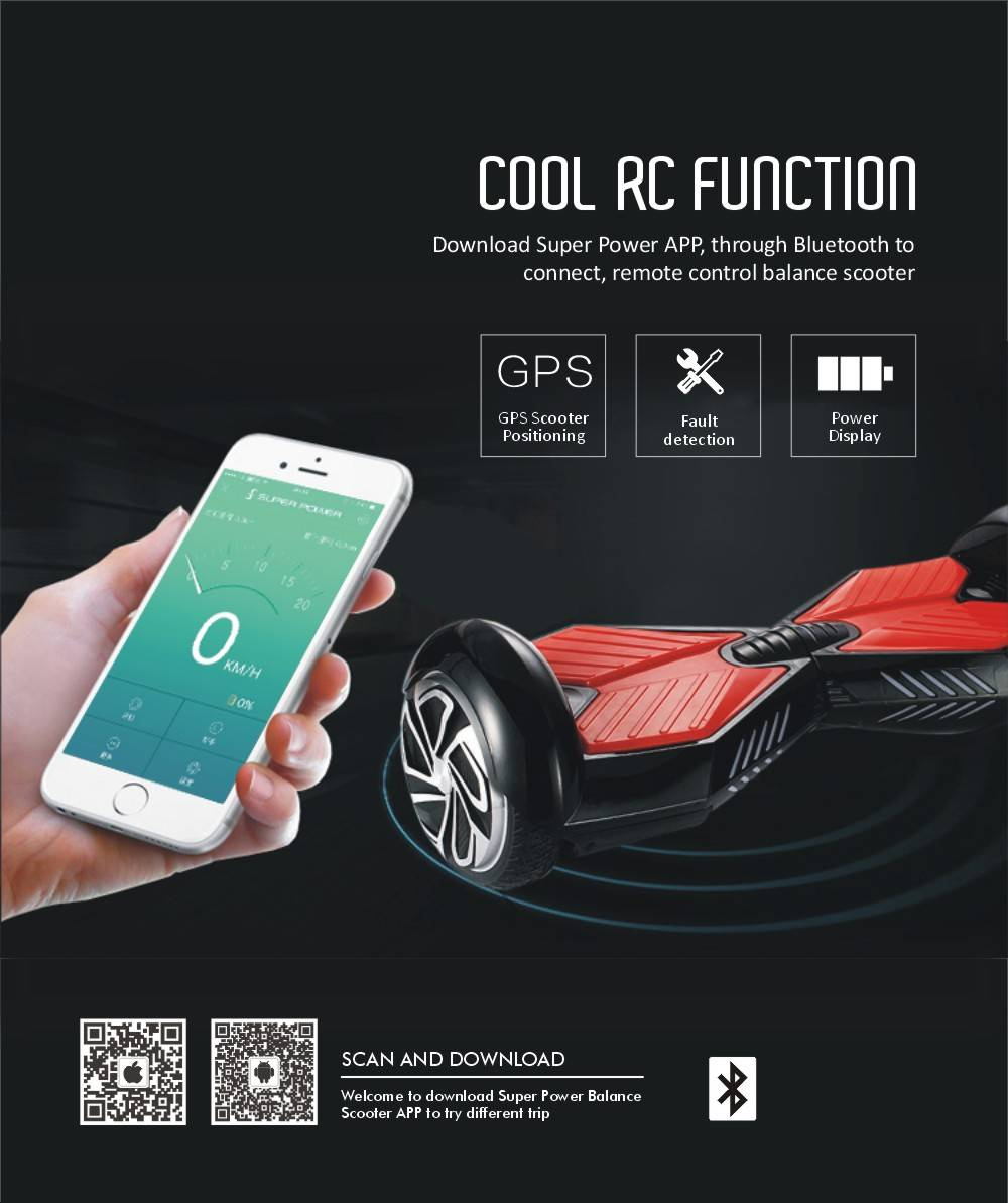 6.5 Inch New Electric Scooter With Bluetooth Speaker FedEx Free Ship Balance Hoverboard With Remote