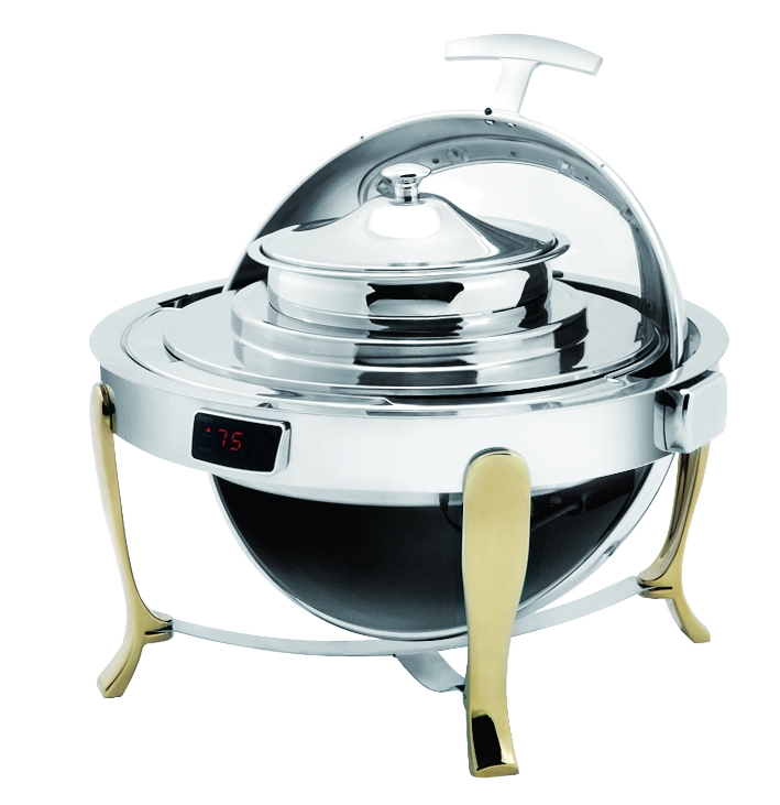 Dripless round soup station W/Gilt Legs /Show Window /T-Controller, Round soup station, round soup s