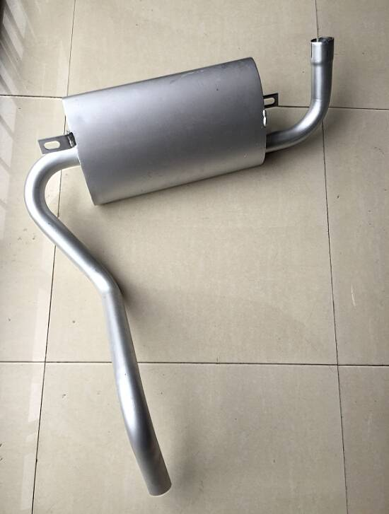 aluminized muffler for forklift with bending pipes