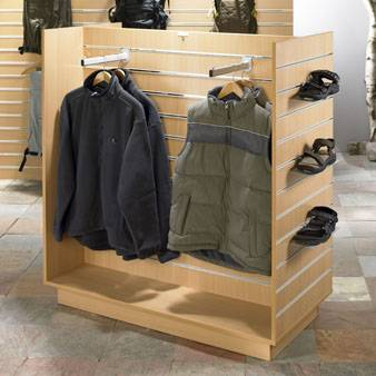 Retail store wooden display stand