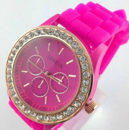 Fashion crystal silicone watch wrist watches