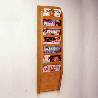 Brochure wooden display stand
