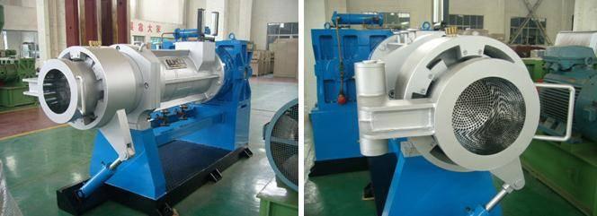 Rubber strainer extruder machine