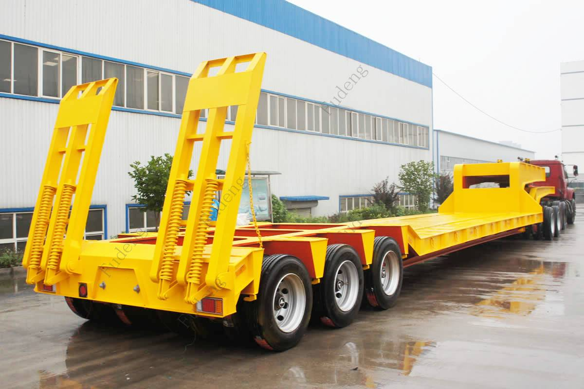China supplier low bed semi trailer with low price