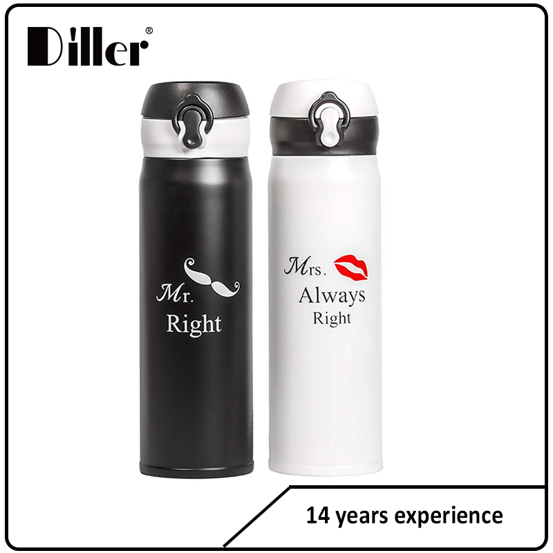 Custom oem couple water bottle stainless steel water bottle
