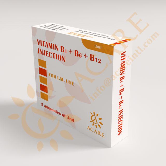 Vitamin B1 & B6 & B12 Injection Vitamin B complex 3ml