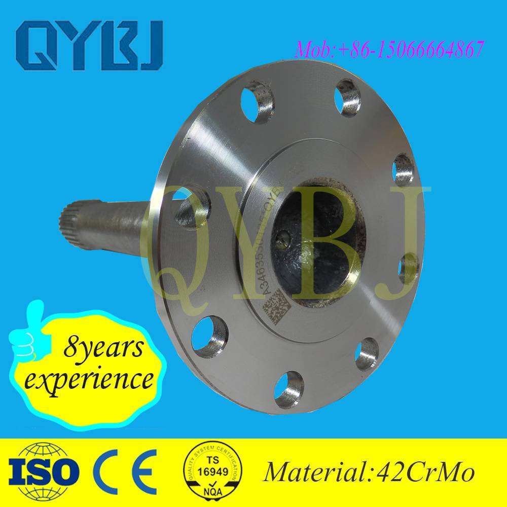 Zhangqiu,jinan,shandong auto forklifts transmission parts drive shafts high hardness northbenz tande
