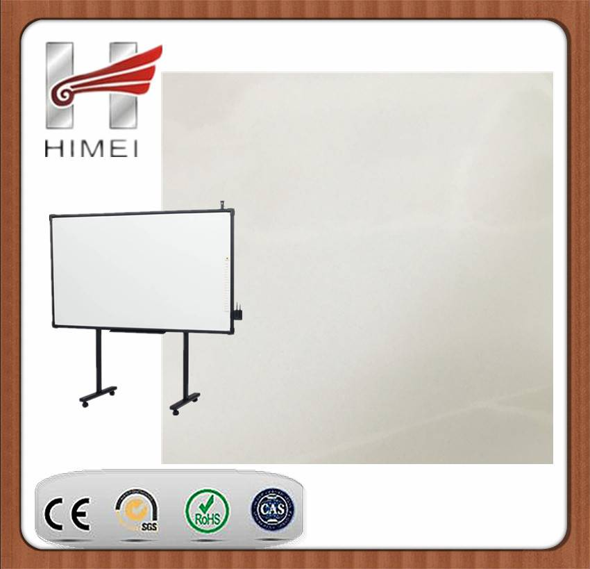 PVC film laminated sheet for white board