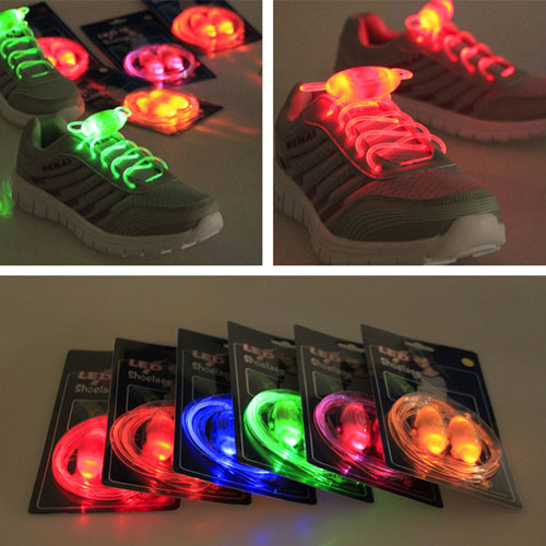 TPU LED Shoe Laces for Outdoor Running Sports Flashing LED shoe Laces