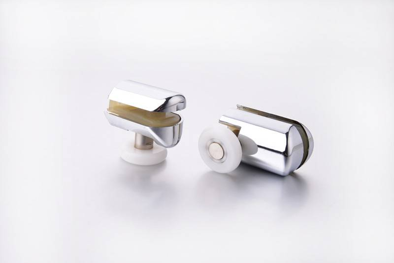 Shower Door Roller Chromeplate Roller u groove pulley(HS069)