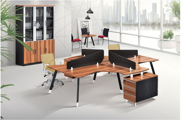 buy wooden workstation furniture from china online,office counter table design(PG-15A-4D)
