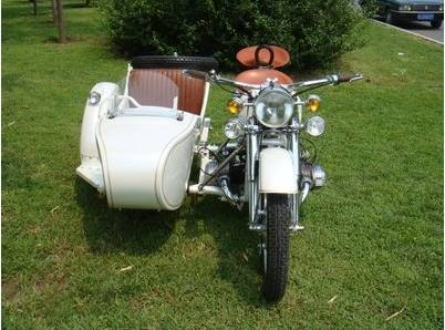 Customized White Color 750Cc Motorcycle Sidecar