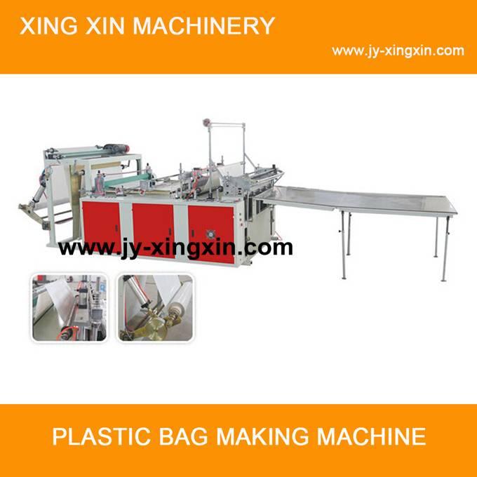 Dual-servo heavy bag making machine
