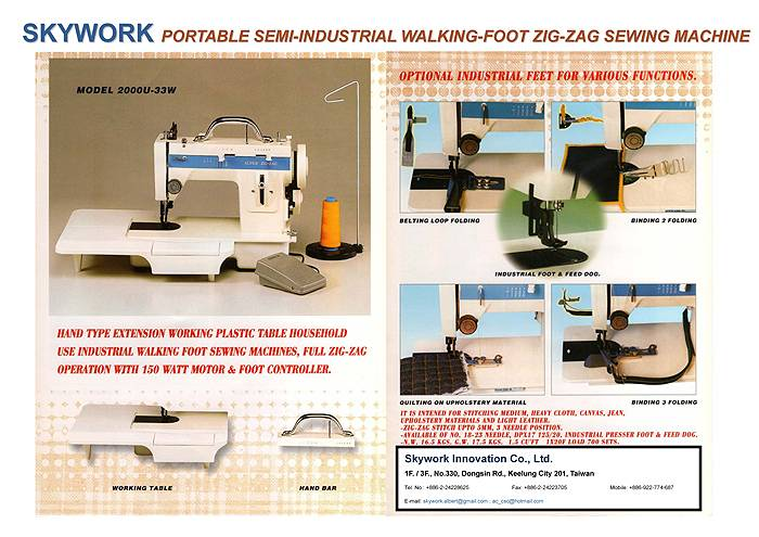 SemiIndustrial WalkingFoot ZigZag Sewing Machinefor Medium Stunning Industrial Zigzag Sewing Machine Walking Foot
