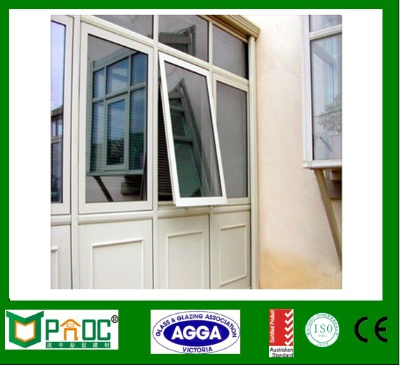 Be well ventilated commercial aluminum awning window with good price