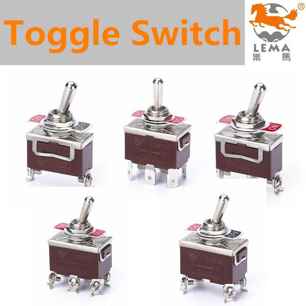 Lema 2 poles double throw toggle switch