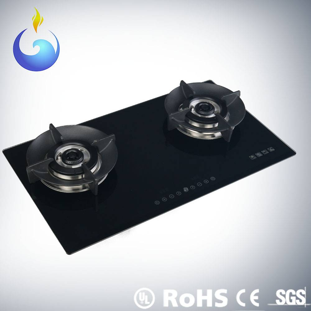 High performance dual protection valve cooktops