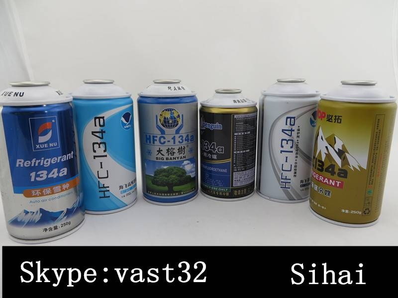 Aerosol can tin can manufacturer for refrigerant gas r134a