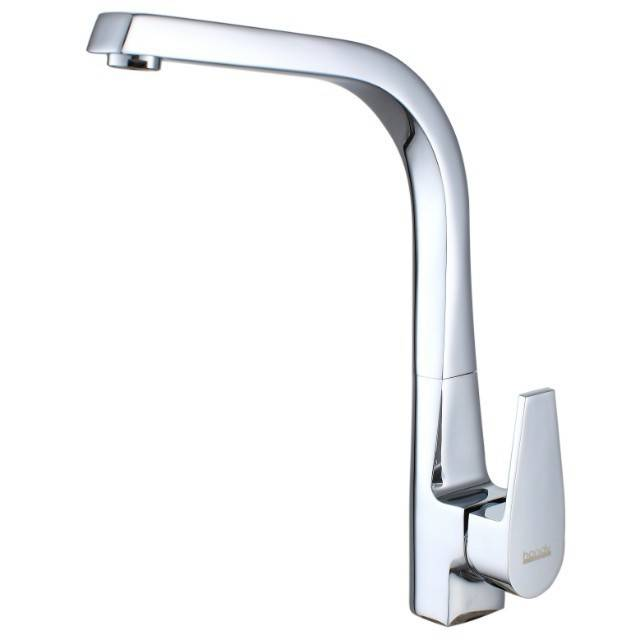 HN-3C65 Kitchen Mixer With H59 Brass Casting Main body chrome plated