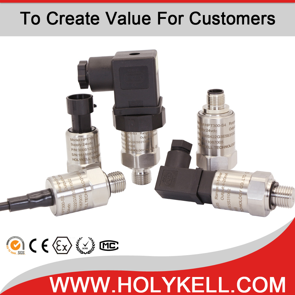 Holykell 0-600bar gas/water/oil pressure sensor