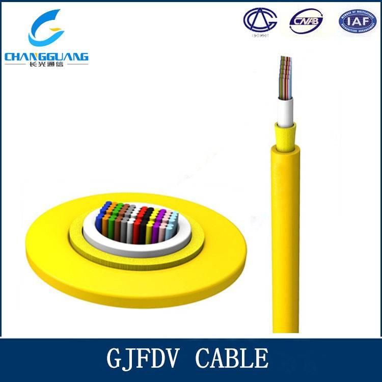 GJFDV indoor multi core ribbon fiber optic cable