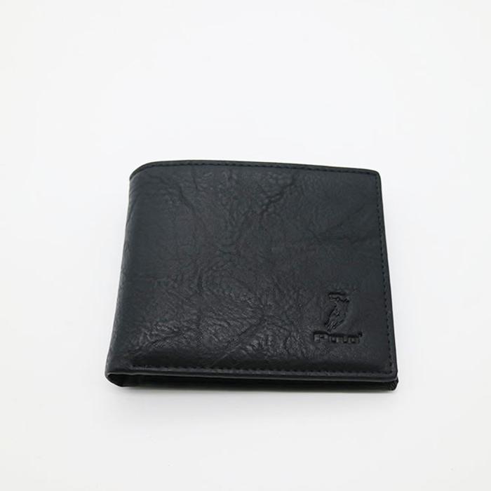J7080a Modern OEM/ODM Design Embossed Logo RFID Blocking Custom Genuine Leather Wallet Billfold