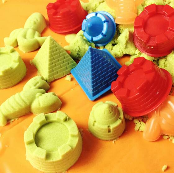 China Supplier colored educational modeling magic sand play dynamic kinetic sand