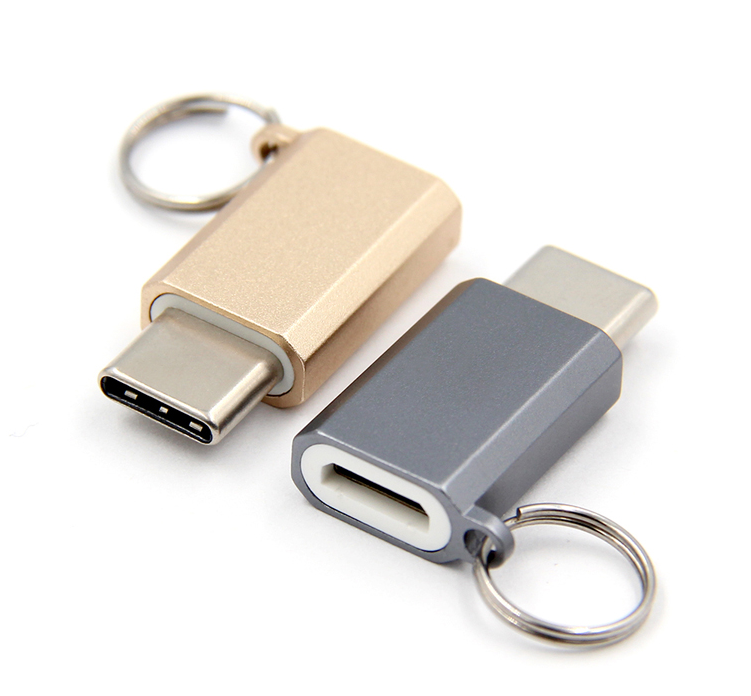 Usb C Mirco Usb Type C Adapter laptop Type-C Converter With Keychain