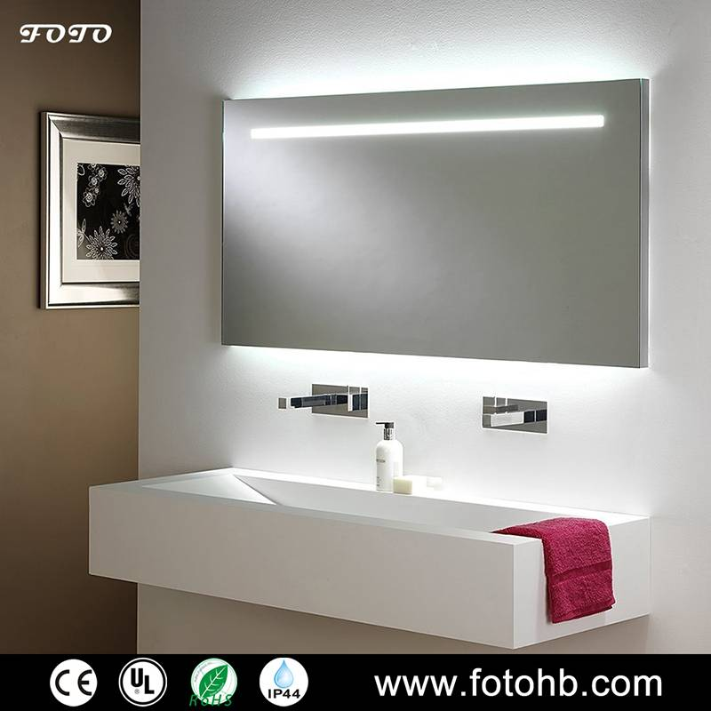 CE/UL/IP44 Illuminated Mirror with LED Backlit