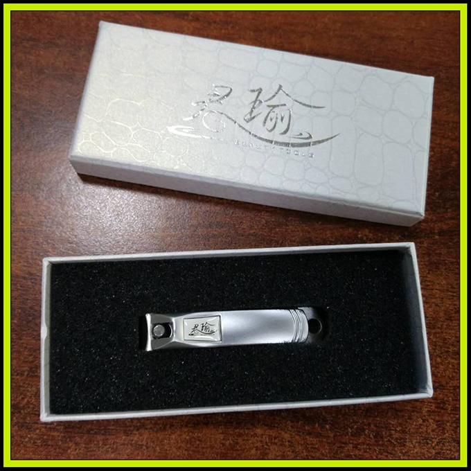JY-LHJ-002 Finger or Toe Brushed Stainless Steel Plated Nail Clipper