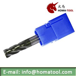 Flattened Solid End Mill for Machining General Steel