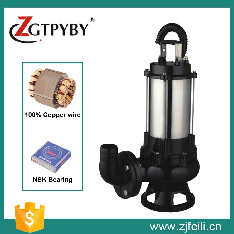 Hot sale submersible sewage water pump with factory price