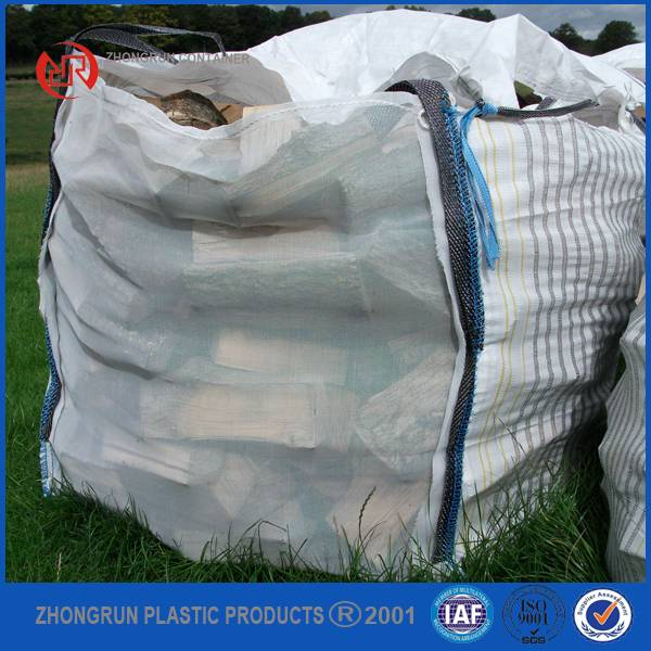 firewood big bag, fibc for wood, jumbo bag for firewood, big bag with vent for breathable