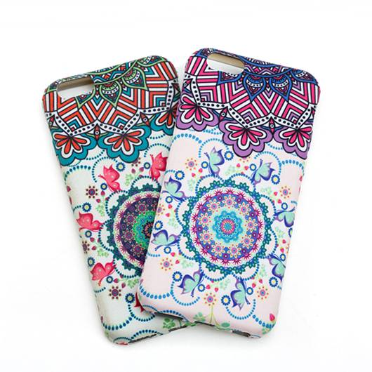 High quality TPU mobile phone cover with emboss water transfer print