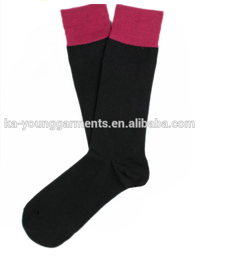 Mens plain colour crew socks