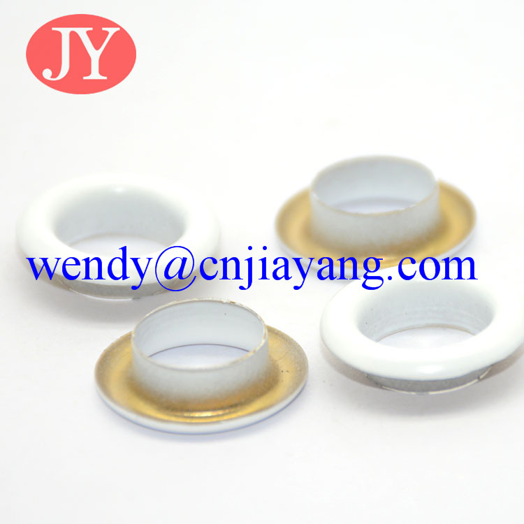 white color painting metal eyelet round rim metal eyelet for garment