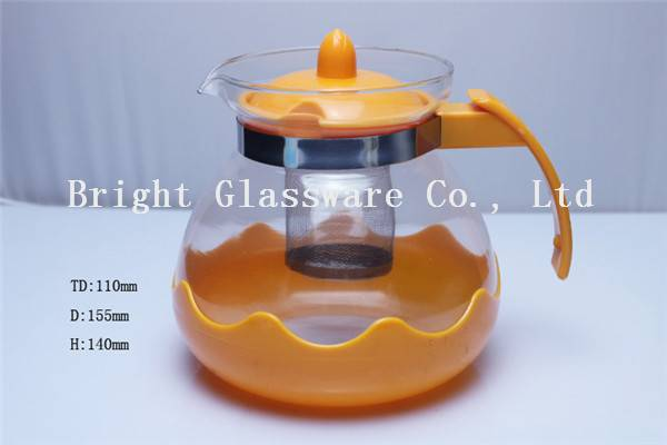 1500ml glass tea pot use in home/ hotel/ restaurant