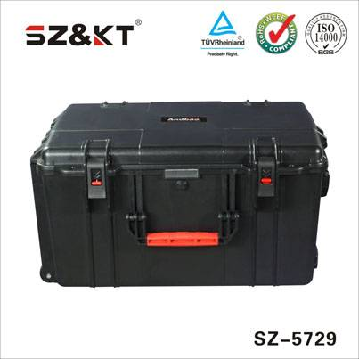 hard plastic waterproof rugged  equipment case with wheels
