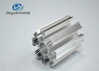 Silver Heat Sink Alloy 6463 Industrial Aluminium Profile Polished Surface