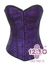 MH12 purple and black lace corset