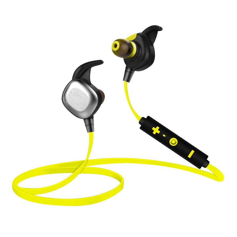 2016 Sports wireless Bluetooth Headset earphone with mic with TPE material
