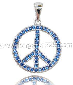 Color CZ 925 Sterling Silver Jewelry Pendants
