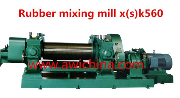 two roll XK- 450 open rubber mixing mill