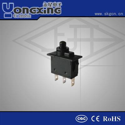Hot sale IP65 30A 12 volt flat low voltage mechanical momentary push button switch