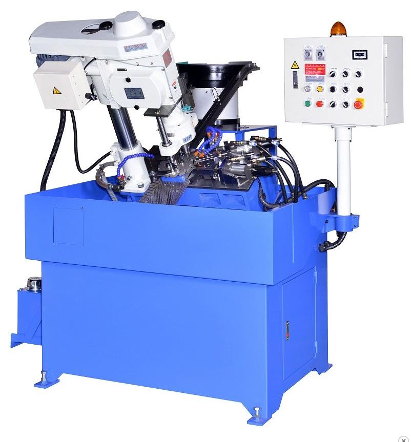 JT-6516E-2S (Double spindle) Slanting type auto feeding tapping machine