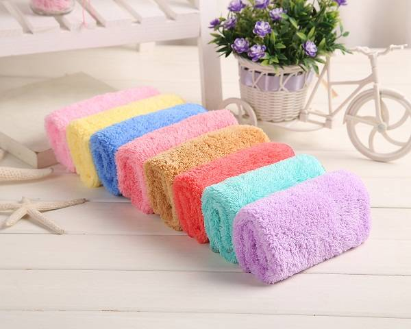 Microfiber Clean Beach Towel Cloth Terry Towels Face Towel Hair Dry Towels